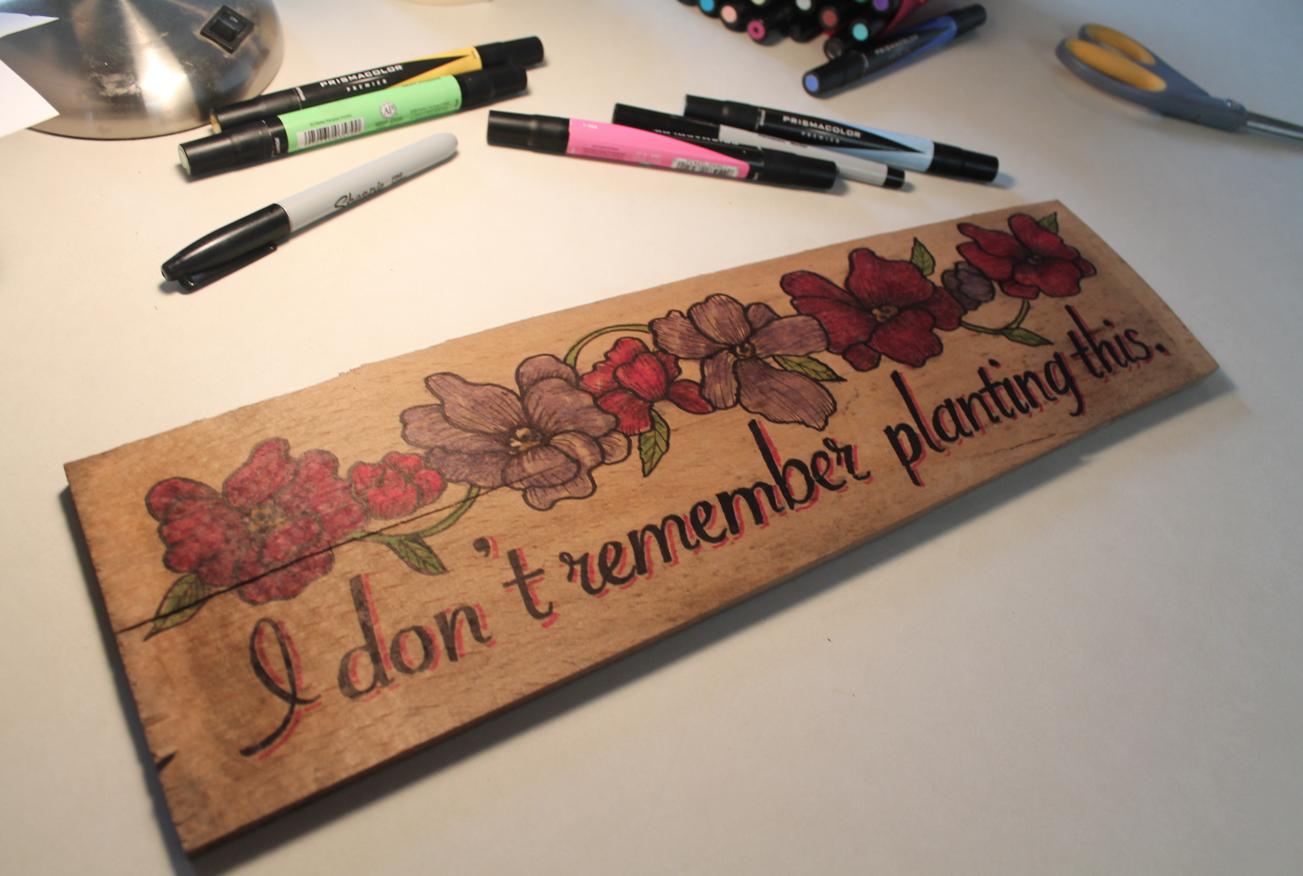 DIY A Wooden Sign For Your Garden Using Vector Artwork ...