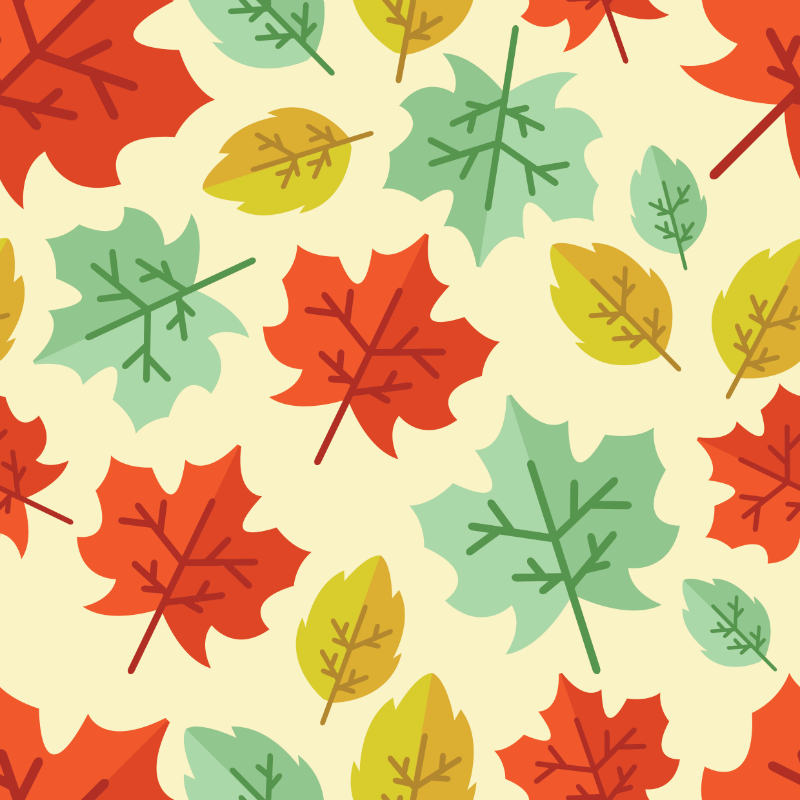 Stock Vector Graphic : Maple leaves background