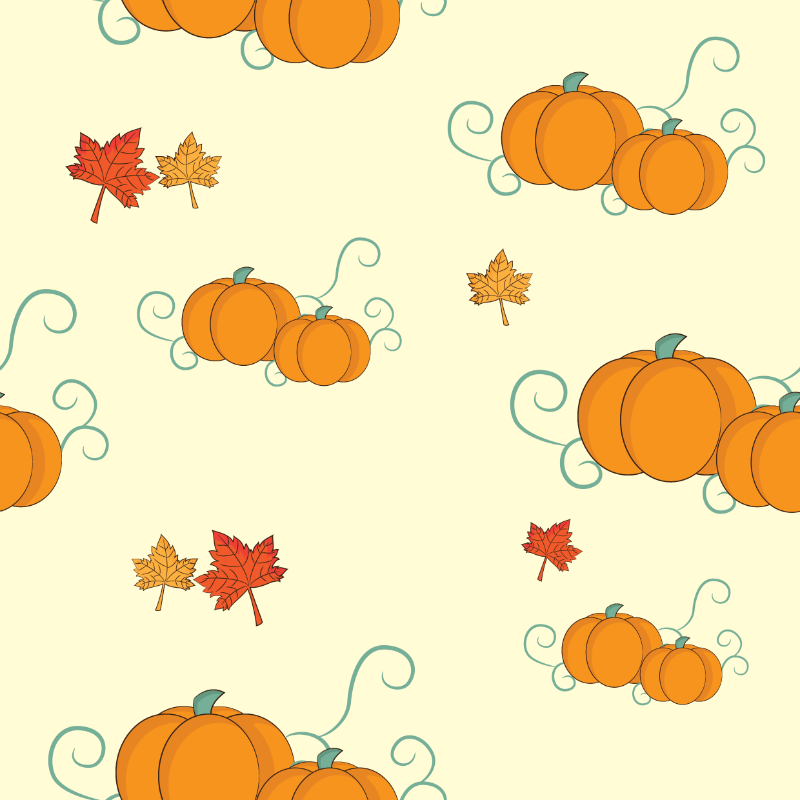 Stock Vector Graphic : Seamless autumn background