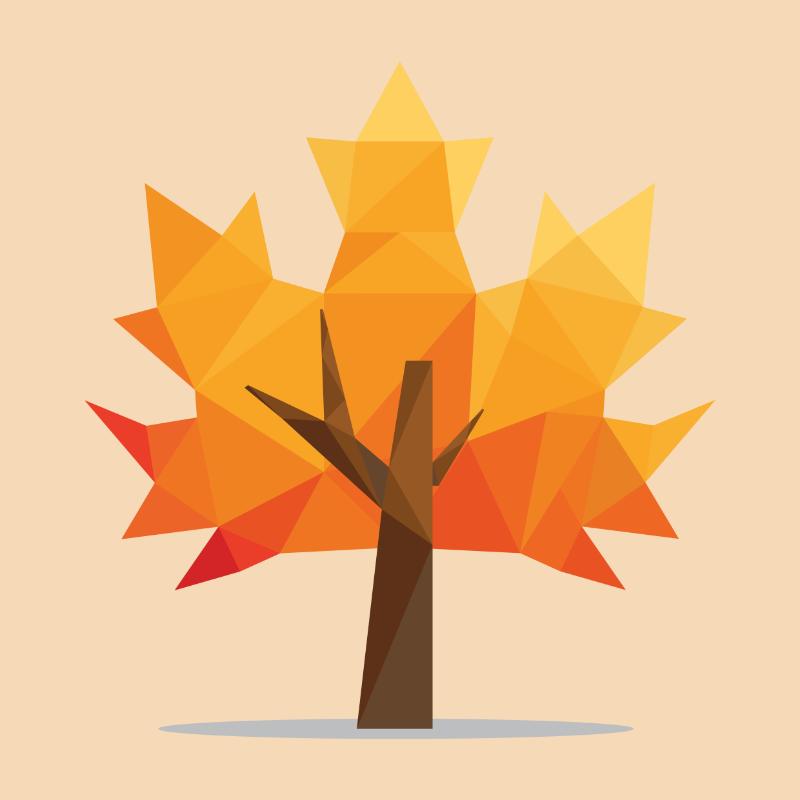 Vector Illustration : Maple tree