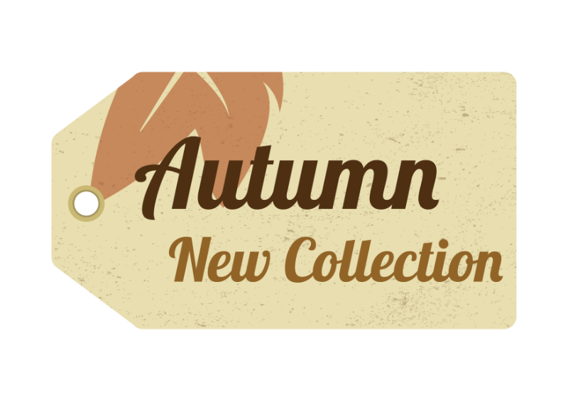 Stock Vector Graphic : Autumn collection tag