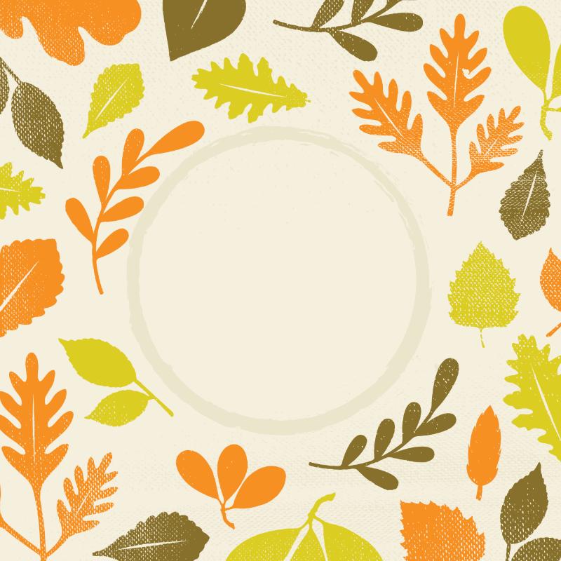 Vector Illustration : Leaves design