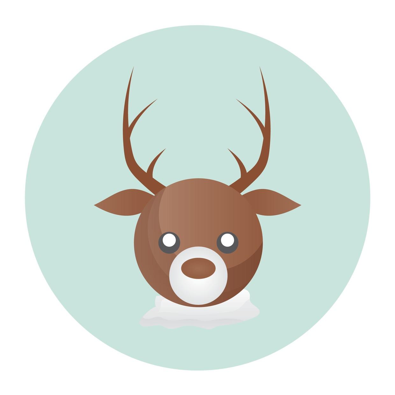 Stock Vector Graphic : A reindeer head