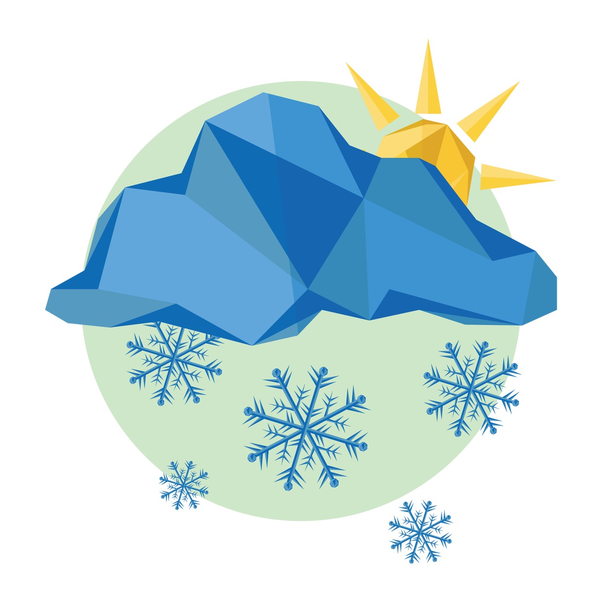 Vector Illustration : Snowflake and sun icon