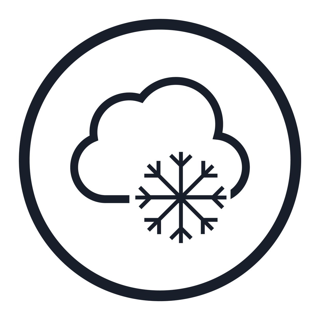 Stock Vector Graphic : Snowflake and cloud icon