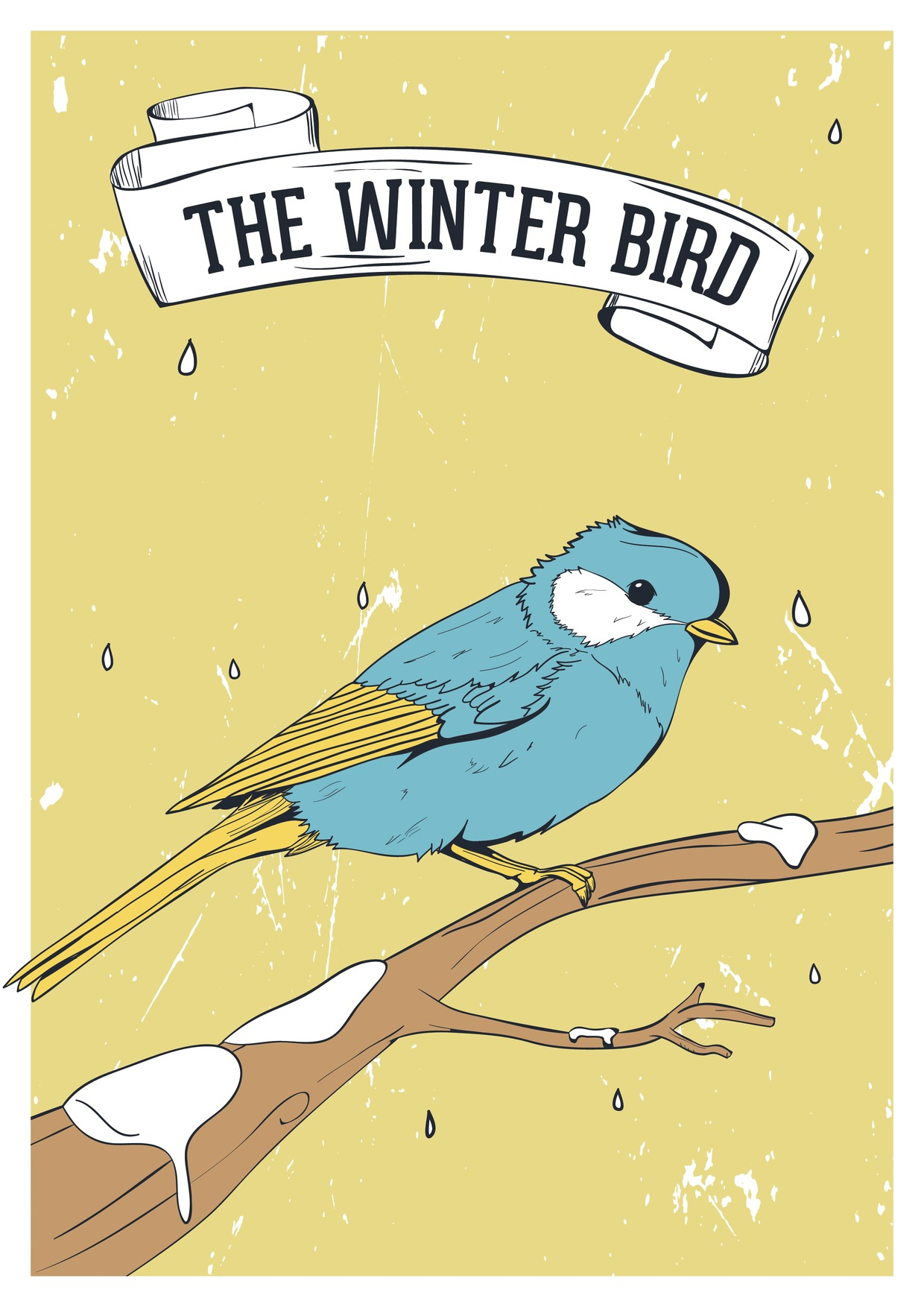 Stock Vector Graphic : Winter bird