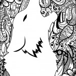 Wolf graphic adult coloring book