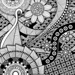 Abstract floral graphic - adult coloring book