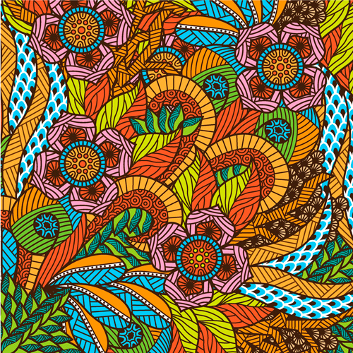 Floral adult coloring book inspiration
