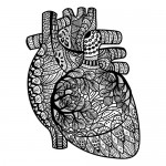 Heart graphic download adult coloring book