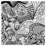 Abstract graphic adult coloring book