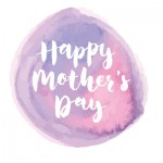 Happy Mothers Day Design with ink splatter