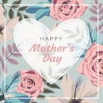 Mothers Day Card rose design