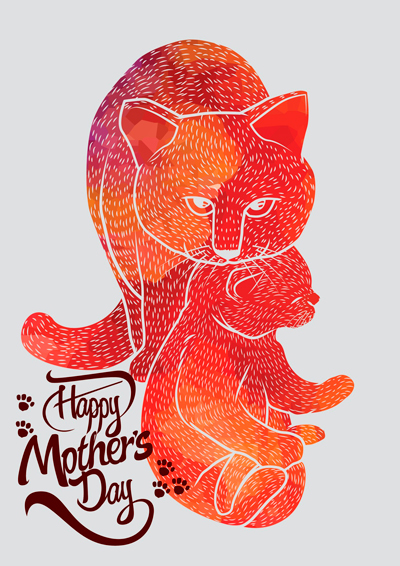 mothers day card inspiration cats