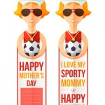 Mother's Day bookmark for printing: I love my sporty mom