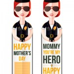 Mother's Day bookmark Mommy You're My Hero