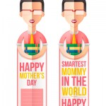 Mother's Day bookmark Smartest Mommy in the World