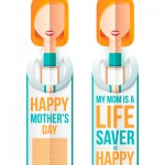 Mother's Day bookmark - My Mom is a Lifesaver