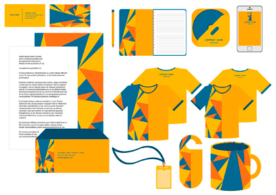 Corporate identity yellow color scheme