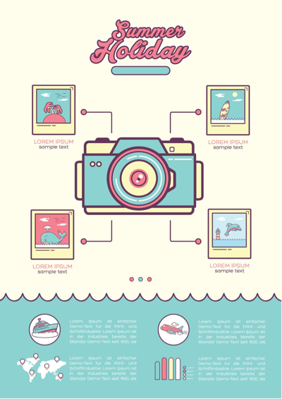 Summer Vectors - Camera Infographic