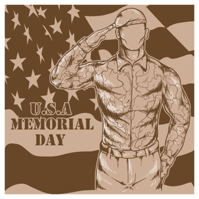 Free Memorial Day Graphics - Soldier saluting