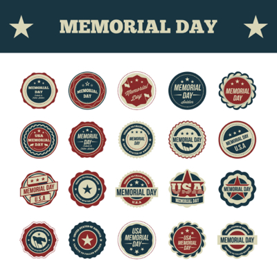 Memorial Day Graphics - Badges