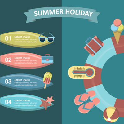Summer Vectors - Summer Holiday Infographic