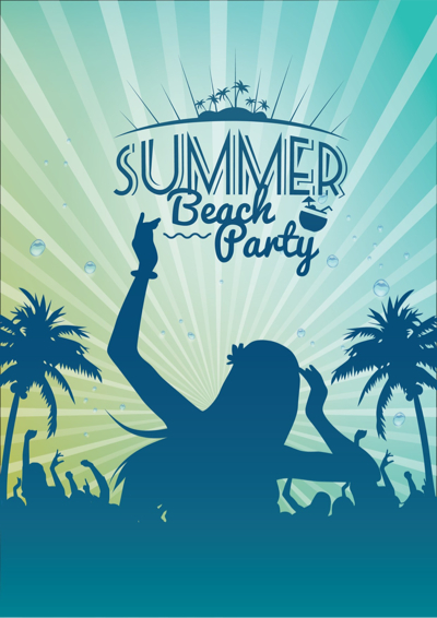 Free Summer Vectors - Summer Beach Party