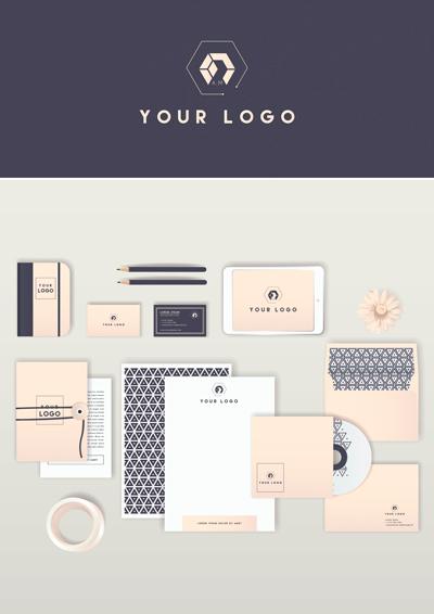 Corporate identity monochrome color scheme