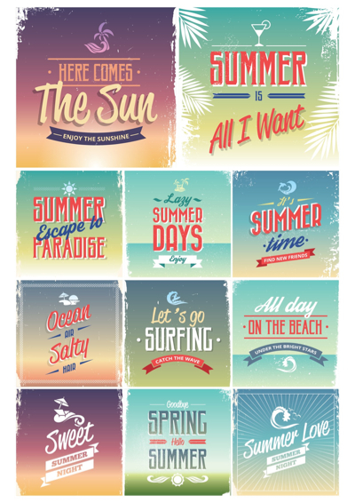 Summer Vectors - Summer Quotes
