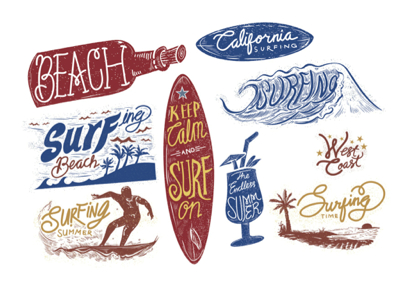 Summer Vectors - Summer typography