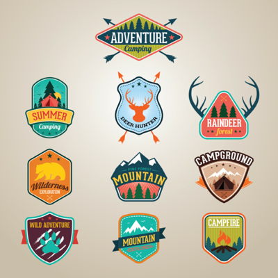 Summer Vectors - Summer labels and Summer logos