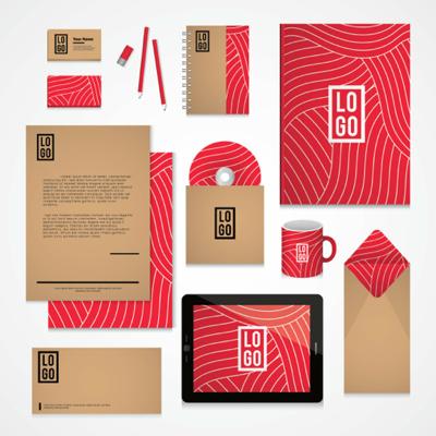 Corporate identity red color scheme