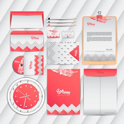 Corporate identity pink color scheme