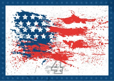 4th of July Graphics - Flag abstract