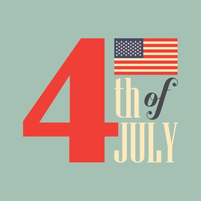 4th of July Graphics - Typography