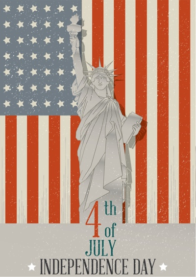 4th of July Graphics - Statue of Liberty Poster