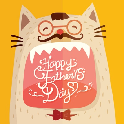 Fathers Day Card Ideas - cool cat dad