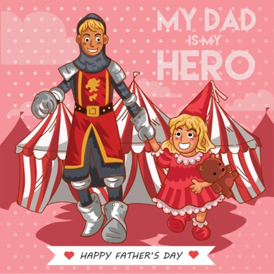 Fathers Day Card Ideas - Cosplay Dad