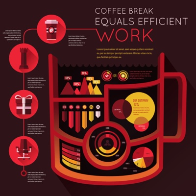 Coffee Break Infographic Template