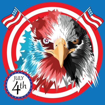 4th of July Graphics - Eagle