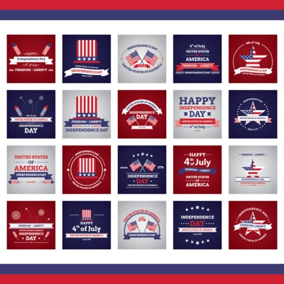 4th of July Graphic Lables