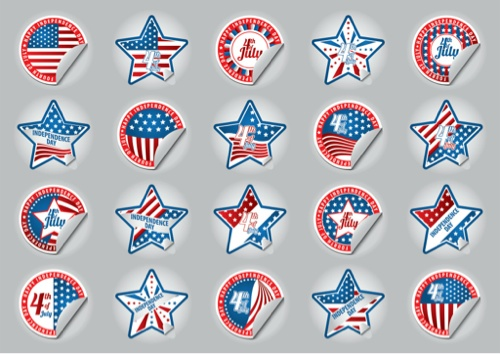 Free 4th of July Stickers