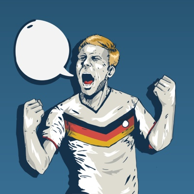 EURO 2016 vector art  - German player