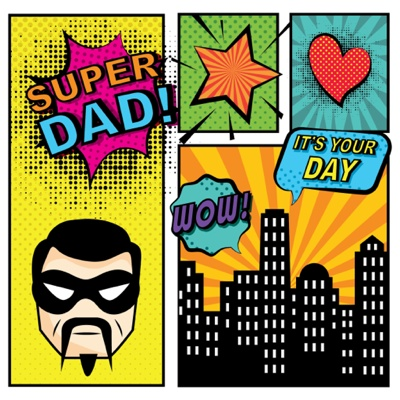 Fathers Day Card Ideas - Superdad comics
