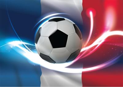 EURO 2016 France flag with football