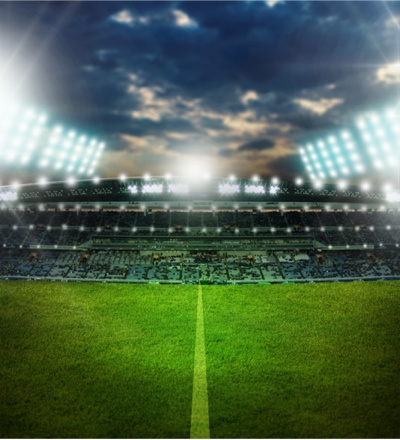 EURO 2016 vector art - football field