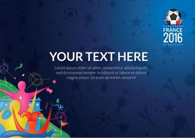 EURO 2016 vector art  template