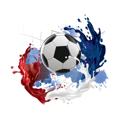 EURO 2016 vector art - football with paint splatter