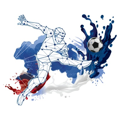 EURO 2016 action vector art